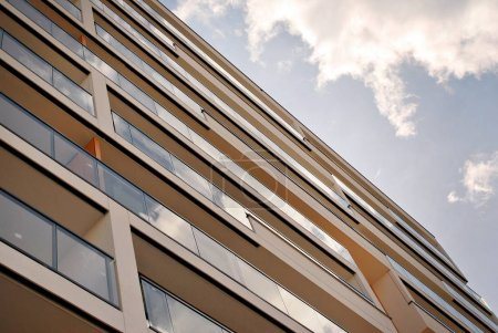 Architectural details of modern apartment building...