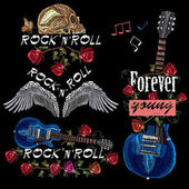 Embroidery music collection Rock elements for clothes