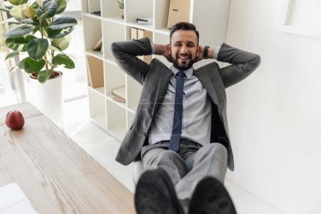 businessman sitting at workplace