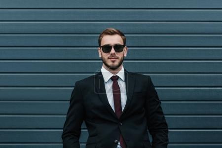 caucasian businessman wearing suit
