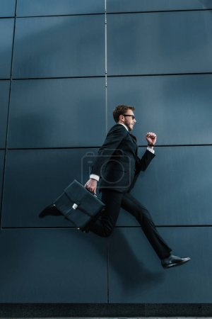 Stylish businessman with briefcase