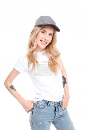 Young woman wearing casual clothes