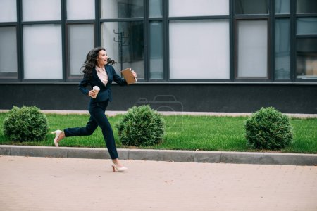 businesswoman running to work