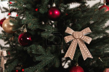 Photo for Close-up shot of decorated christmas tree - Royalty Free Image