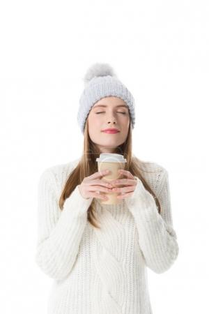 girl with coffee to go