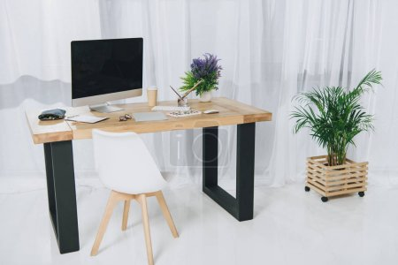 View of modern home office interior