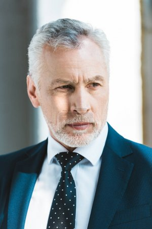Photo for Portrait of handsome senior businessman looking away - Royalty Free Image