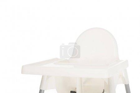 Photo pour Vue de chaise haute isolé sur fond blanc - image libre de droit