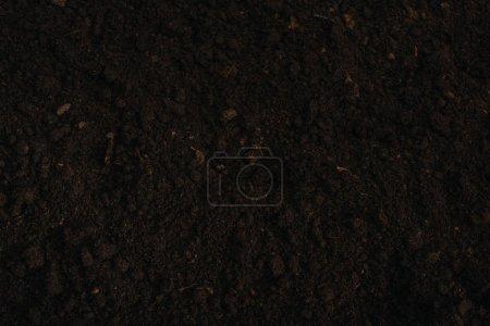 Photo pour Vue aérienne d'arrière-plan de sol brun - image libre de droit