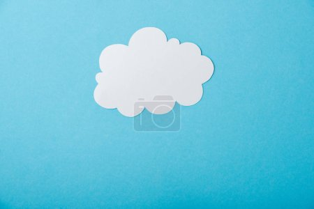 Photo for White blank cloud isolated on blue - Royalty Free Image