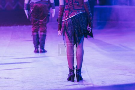 Photo for KYIV, UKRAINE - NOVEMBER 1, 2019: Cropped view of artist in costumes on sircus stage - Royalty Free Image