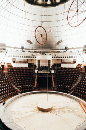 Photo for Circus arena with amphitheater and stage equipment - Royalty Free Image