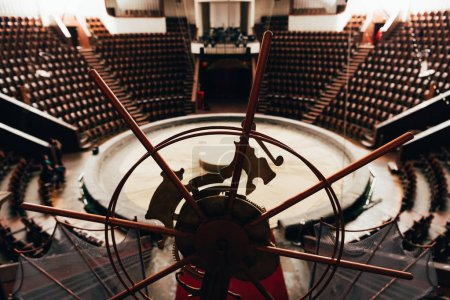 Photo for Selective focus of stage equipment and circus arena - Royalty Free Image