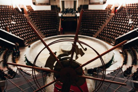 Selective focus of stage equipment and circus arena