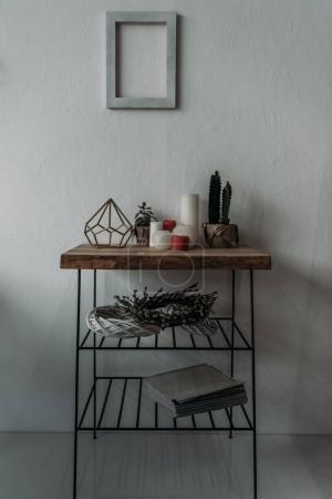 Little table with decorations