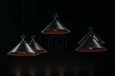 Vintage black lamps