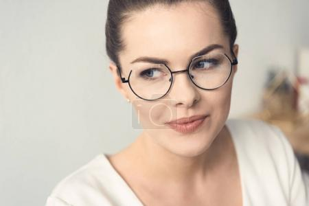 attractive businesswoman in office
