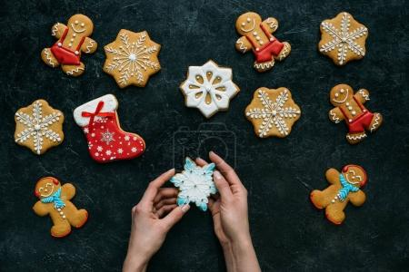 homemade gingerbreads with icing