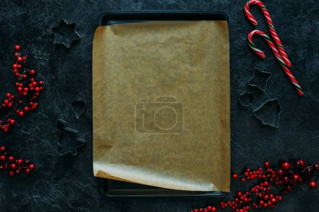 baking tray and cookie cutters
