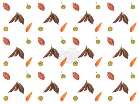 Photo for Beautiful floral pattern from dried autumn leaves - Royalty Free Image