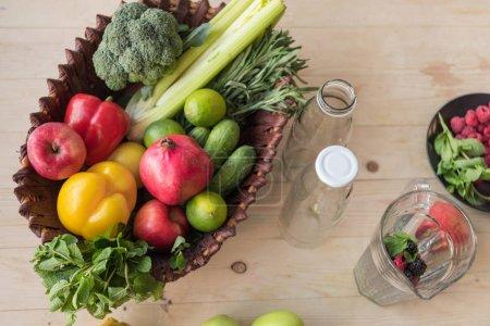 organic food in basket