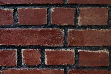 Photo pour Vue rapprochée de la texture du mur de briques rouges - image libre de droit
