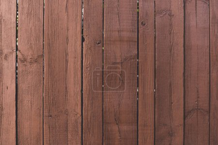 Photo for Close-up view of brown wooden planks background - Royalty Free Image