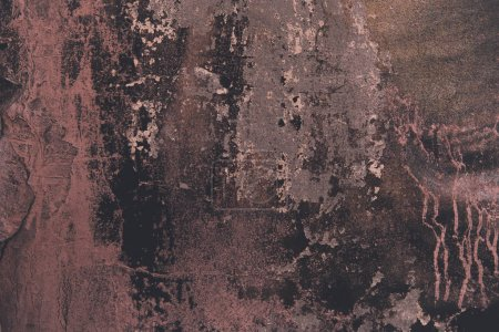 Photo for Old brown and pink weathered wall texture - Royalty Free Image
