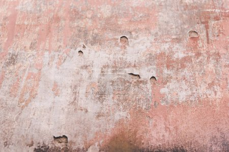 Photo for White and red weathered old wall texture - Royalty Free Image