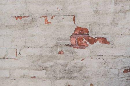 Photo pour Vue rapprochée de la texture des murs de briques altérées - image libre de droit