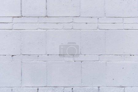 Foto de Vista cercana de ladrillo áspero blanco de pared textura de fondo - Imagen libre de derechos