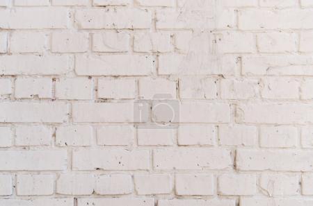 Photo pour Vue rapprochée de la texture du mur de briques blanches - image libre de droit