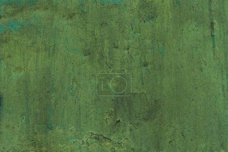 Photo pour Vieille texture de mur vert rayé - image libre de droit