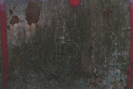 Photo for Old dark rusty texture with red paint - Royalty Free Image