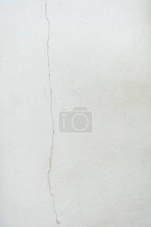 Photo pour Vue rapprochée du vieux fond de mur blanc texturé - image libre de droit