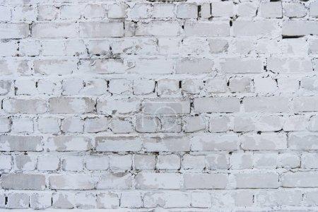 Photo pour Vue rapprochée du mur de briques blanches fond texturé - image libre de droit