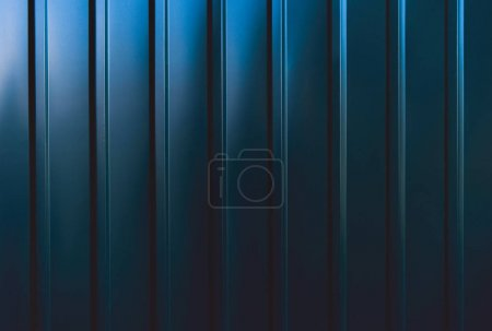 Photo for Dark blue iron sheet background - Royalty Free Image