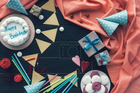 birthday cake and decoration for party