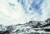 """Постер, картина, фотообои """"красивые горы пейзаж под пасмурным небом, Австрия"""""""