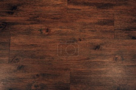 Photo for Top view of dark brown wooden background - Royalty Free Image