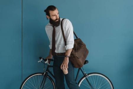 businessman cyclist