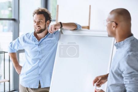 multiethnic businessmen working together