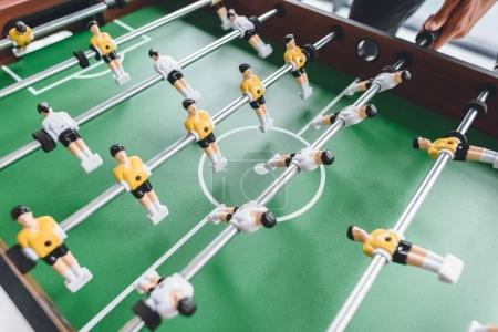man playing table football