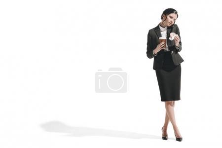 businesswoman talking on smartphone