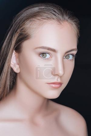 attractive woman with perfect skin