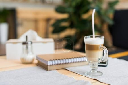 coffee latte in cafe