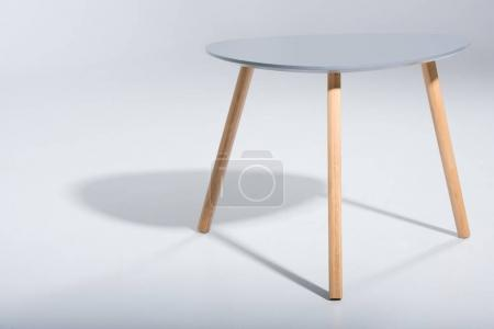 stool with white top and wooden legs