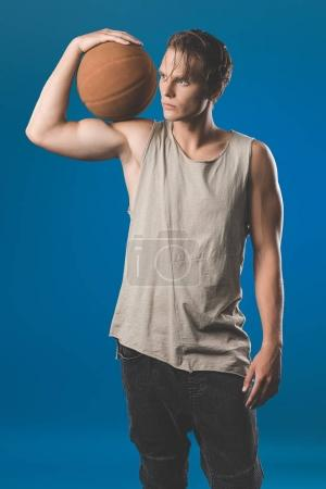 Man with basketball ball