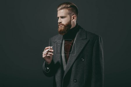 stylish man with cigarette