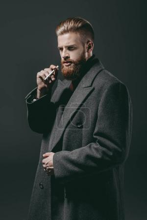 stylish man with cigarette